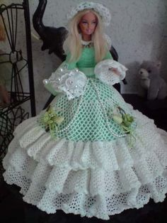 barbie doll collection green