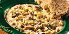 Easy Beef Stroganoff Recipe from CrockPotGirls.com!!
