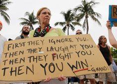 Betsy Skipp of Miami takes part in the Occupy Miami protest in Miami, Florida, October 15, 2011. (Reuters/Joe Skipper)