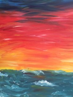 Painting of a sunset