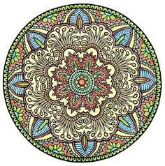 Mystical Mandala Coloring Book (Dover Design Coloring Books) by Alberta Hutchinson - p.24 (colored by Lenore1216)