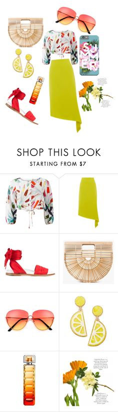 """""""Summertime Sadness 🌻"""" by sonthia on Polyvore featuring Mara Hoffman, Warehouse, Marques'Almeida, Cult Gaia, Celebrate Shop and HUGO"""