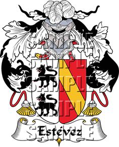 Estevez Family Crest apparel, Estevez Coat of Arms gifts