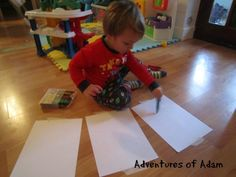 Wax Crayons – Day 72 Toddler Play Challenge