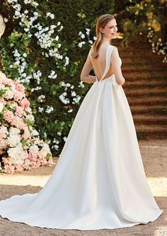 Looking for the perfect simply chic wedding dress? Sincerity Bridal style 44155 is what you've been waiting for. See the full look! Sincerity Bridal Wedding Dresses, Chic Wedding Dresses, Bridal Gowns, Wedding Gowns, Sabrina Neckline, Trend Fabrics, Dress Backs, Bridal Style, Homecoming Dresses