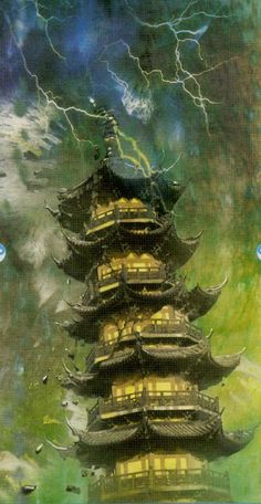 XVI. The Tower: China Tarot