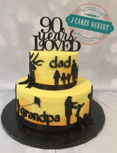 "90th Birthday Cake...""90 Years Loved"""