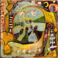 Moses's Folly by Jennifer Levine Art Journal Inspiration, Painting Inspiration, Art Inspo, Cobra Art, Art Brut, Funky Art, Art Abstrait, Naive Art, Cultura Pop