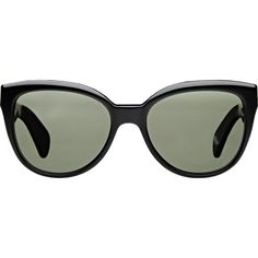 Oliver Peoples Abrie Sunglasses ($365) ❤ liked on Polyvore featuring accessories, eyewear, sunglasses, black, oversized sunglasses, oversized cat eye sunglasses, oliver peoples glasses, cat eye glasses and cateye sunglasses