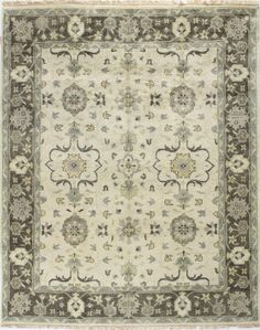 E by design Daisy May Floral Print Rug 4 by 6-Feet Hyacinth