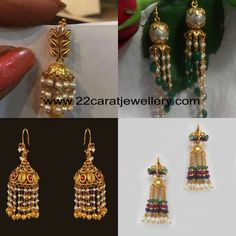 Simple Gold Hoops with Pearls - Jewellery Designs Indian Jewellery Design, Bead Jewellery, Indian Jewelry, Gold Jewelry, Jewellery Designs, Quartz Jewelry, Beading Jewelry, Jewellery Shops, Latest Jewellery