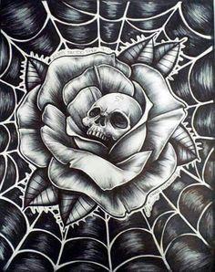 Skull flower web