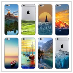 Fashion For iPhone 6 5 5s 6s Case Ultra Thin Soft Waterproof Silicon Mountain Landscape For iPhone 7 Case Phone Case Cover