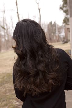 Dark Ombre Hair & Waves. My favorite. #Hair #Ombre #Waves