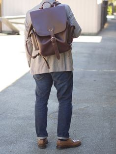 Estate Casual Leather Backpack Fall Leather Backpack