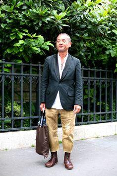 On the Street…….Chopped Leather Pants, Paris « The Sartorialist