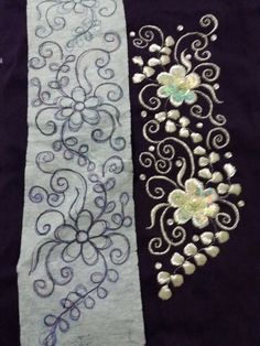 Best 12 Saloua Zaki's media statistics and analytics – SkillOfKing. Bead Embroidery Patterns, Tambour Embroidery, Hand Embroidery Designs, Ribbon Embroidery, Beaded Embroidery, Embroidery Stitches, Machine Embroidery, Bird Template, Maggam Work Designs