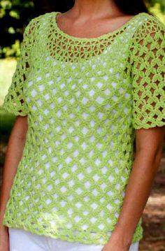 Blouse, Tops, Women, Fashion, Crochet Batwing Tops, Crochet Stitches, Dots, Tejidos, Patterns