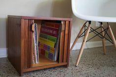 Mid Century Tambour Door Side Table  Vintage by RetroTherapyRehab