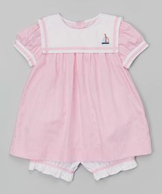Loving this Pink Sailboat Top & Bloomers - Infant & Toddler on #zulily! #zulilyfinds