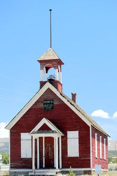 Charming little schoolhouse in Leadville, Colorado