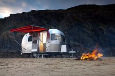 Image detail for -The new Bambi 422 travel trailer, which has been redesigned by Airstream for was unveiled at the National Boat, Caravan and Outdoor Show. The new-look model is . Airstream Bambi, Airstream Caravans, Vintage Airstream, Vintage Travel Trailers, Airstream Living, Camping Glamping, Beach Camping, Camping Ideas, Camping Trailers