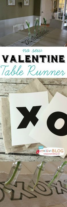 Valentine Table Runner | TodaysCreativeBlog.net