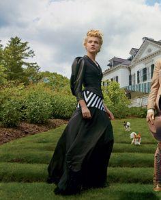 Natalia Vodianova for Vogue | Annie Leibovitz | On the grounds of the Edith Wharton Estate