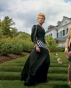 "The Look: Edith Wharton - Natalia Vodinaova at Wharton's summer residence, The Mount in Lenox, Massachusetts. Photographed by Annie Leibovitz and styled by Grace Coddington for Vogue's September 2012 ""The Custom of the Country"" editorial."