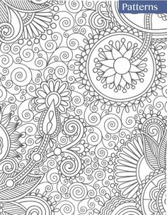 Colour Therapy Anti Stress Adult Colouring Books 30 Pages ZenArt Pattern Floral