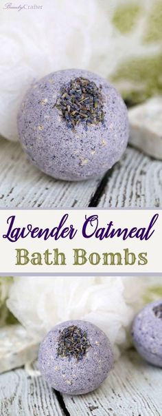 Lavender Oatmeal Bath Bombs Recipe for a relaxing skin soothing bath. Great DIY gift for Mom!