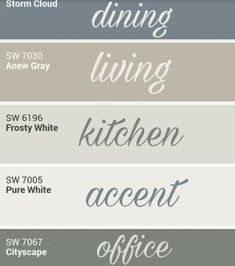 Sherwin Williams whole home palette. by cara – Sherry Pittillo Sherwin Williams whole home palette. by cara Sherwin Williams whole home palette. by cara Farmhouse Paint Colors, Paint Colors For Home, Farmhouse Decor, Office Paint Colors, Modern Farmhouse, Popular Paint Colors, Wall Paint Colors, Home Paint Colors, Primitive Paint Colors