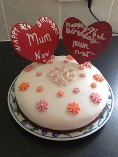 My mum's birthday cake.