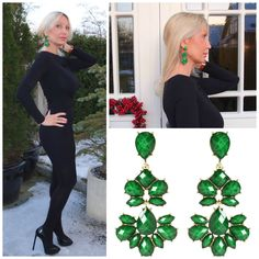Amrita Singh Evergreen Chandelier earings.