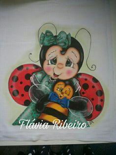 Joaninha muito fofa  Minha pintura  Risco Lilinha Silva