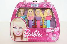 Barbie Pez Metal Case Collection of Dispensers With Candy Set of 4 NEW