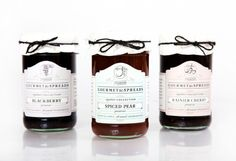 Creative Packaging, Blackberry, Farms, Baking, and Hunieco image ideas & inspiration on Designspiration Bake Sale Packaging, Jam Packaging, Baking Packaging, Glass Packaging, Brand Packaging, Packaging Design, Packaging Ideas, Jam Jar Labels, Jam Label