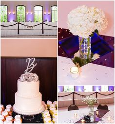 Purple uplighting and details at the reception. Iowa Wedding Photography | CTW Photography