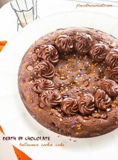 death-by-chocolate-halloween-cookie-cake1 |  flavorthemoments.com