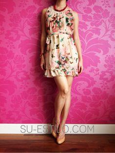 butterfly dresses | ... - CLOTHING - Dresses - Chiffon SL Butterfly Tie Waist Dress - Pink