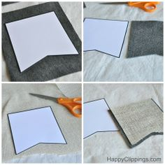 burlap banner how to