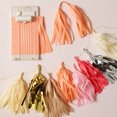 It's fringe-tastic! Creating custom fringe party décor is cinch with the fringe cutter from #MarthaStewartCrafts at @MichaelsStores.