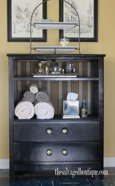 How To Turn A Broken Dresser Into An Old Fashioned Cabinet - DIY ...