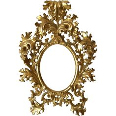 Preowned Very Finest Small Florentine Water Gilt Carved Rococo Style... ($1,750) ❤ liked on Polyvore featuring home, home decor, frames, multiple, gilt picture frames and gilt frames
