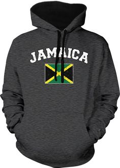 New Youth Grunge Jamaica Flag Kids Black Hoodie Jamaican Pride Rasta Team Cool