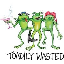 TOADILY WASTED Girl Frogs NEW T Shirt S M L XL 2X 3X 4X 5X *Free Ship&* Party Ladies Night
