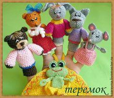 Finger puppets hand crochet Hause от RainbowHappiness на Etsy