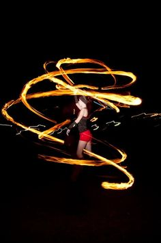 fire spinning again!