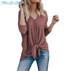 online shopping for Imily Bela Womens Waffle Knit Tunic Blouse Tie Knot Henley Tops Bat Wing Plain Shirts from top store. See new offer for Imily Bela Womens Waffle Knit Tunic Blouse Tie Knot Henley Tops Bat Wing Plain Shirts Women's Henley, Henley Shirts, Tie Blouse, Shirt Blouses, Women's Shirts, Button Shirts, Loose Shirts, Blouson Rose, Bluse Outfit