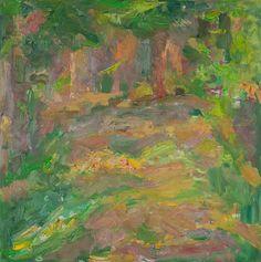 Rautio: Metsätie - Road in the forest, 73x73 cm, oil on canvas - öljymaalaus, 2006